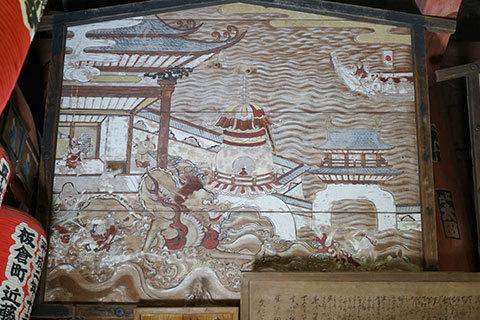 大岩山毘沙門天 西洋透視図法を用いた「竜宮玉取り図」