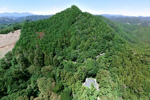 大岩山毘沙門天の空撮写真
