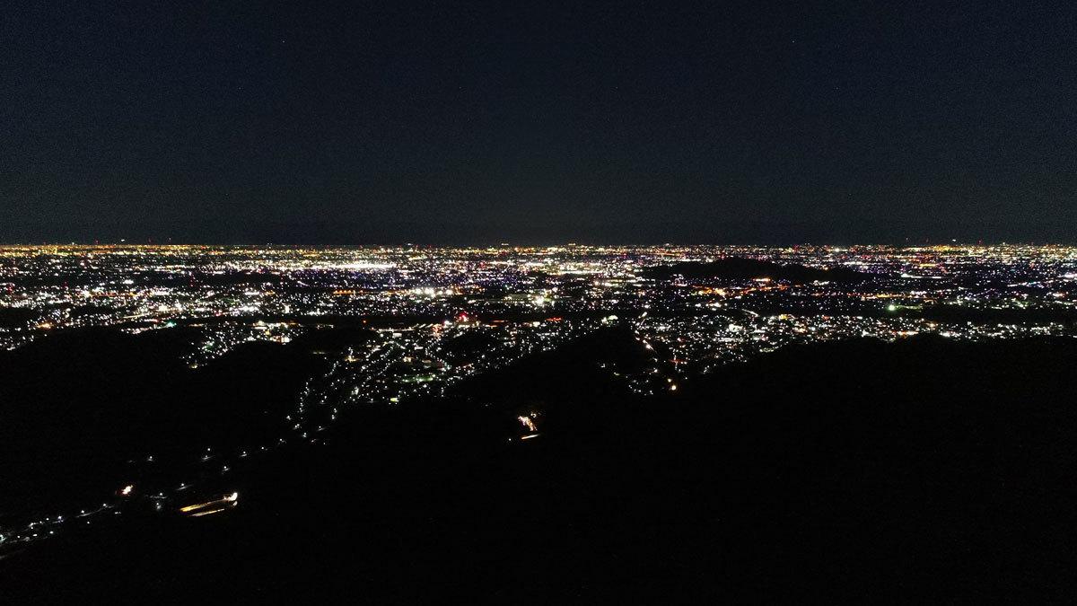 西公園からの夜景