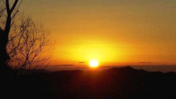 大岩山毘沙門天の「初日の出遥拝式」