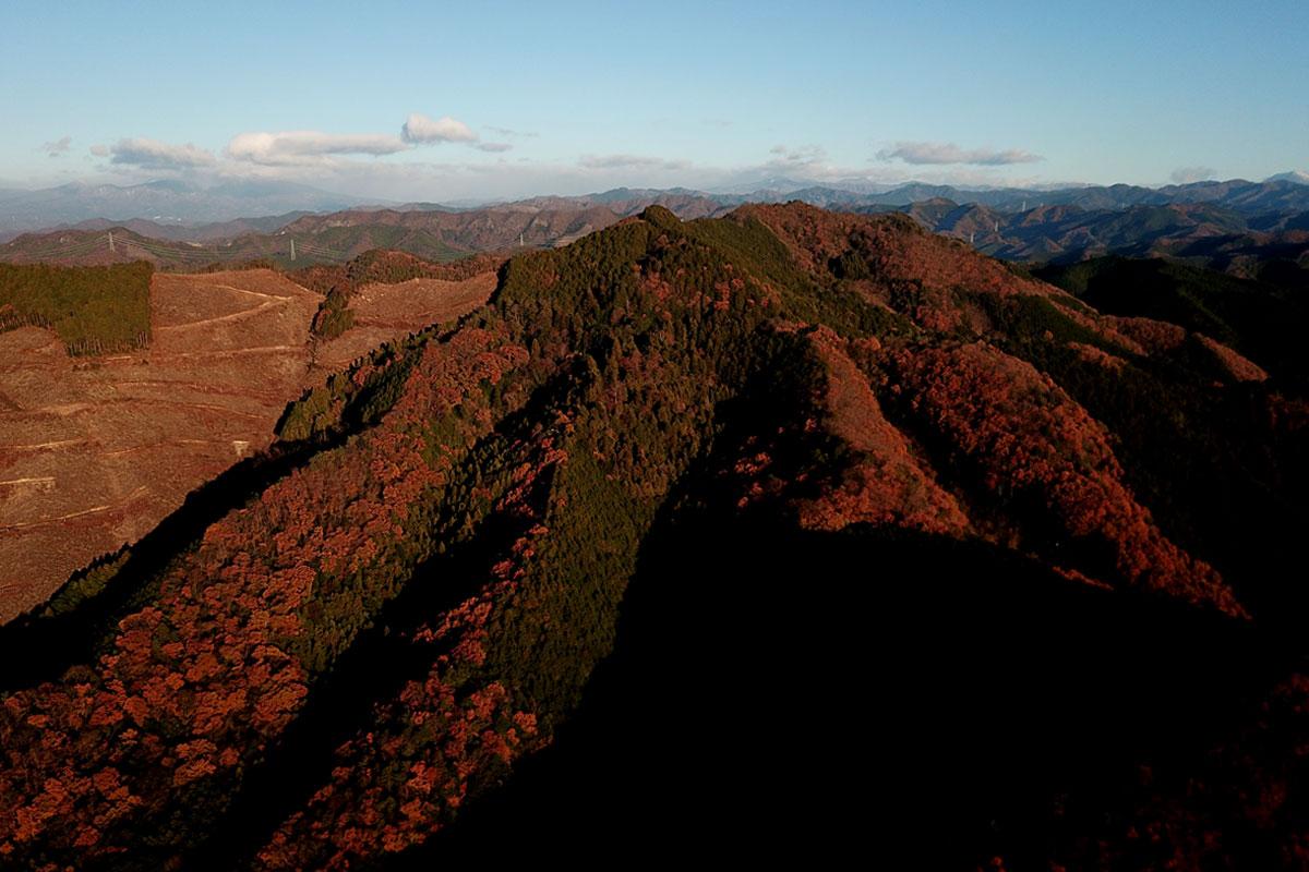 朝日の大岩山